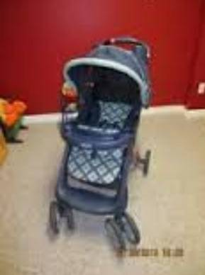 Graco Stroller Blue Plaid For Sale