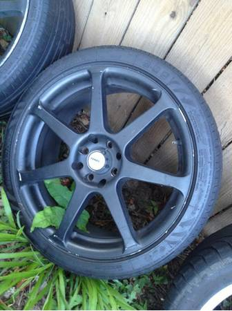 17 inch Tenzo rims and tires universal 4 lug fit - $280 (New Orleans, Houma )