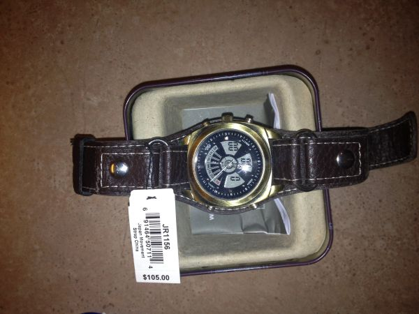 Mens Fossil watch with Leather Band - $50