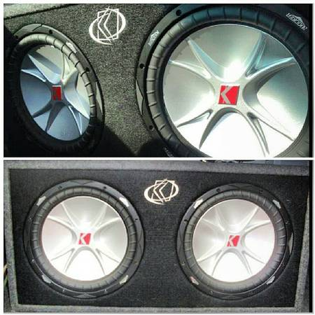 2 12 kicker cvr in custom kicker box - $225 (Houma)