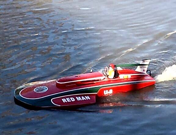 Rc Boat   red man themed thunderboat hydro FOR SALE -   x0024 800  Raceland