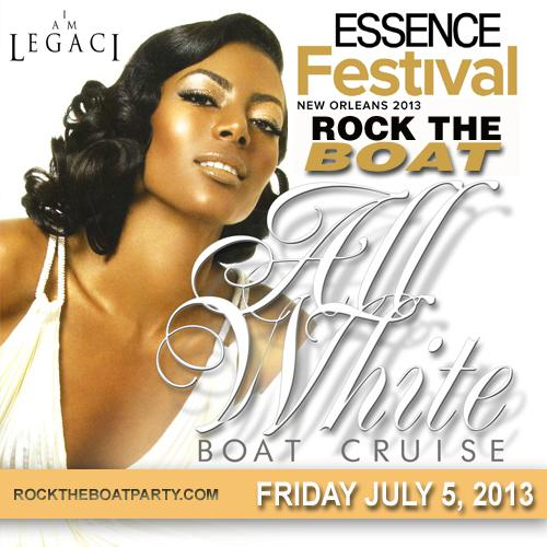 New Orleans Essence Music Festival 2013 All White Boat Ride Party