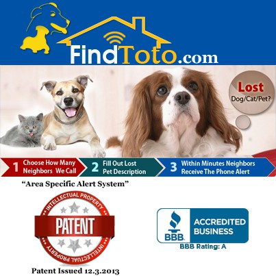 Lost Pet Phone Alerting Area specific messaging