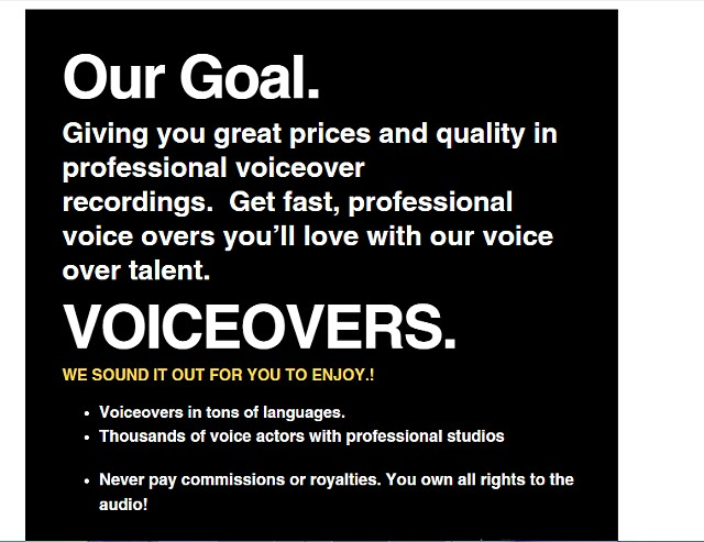 Voice over Specialists   jingles  commercials  voicemails  cartoons  audio books 48hr turnaround