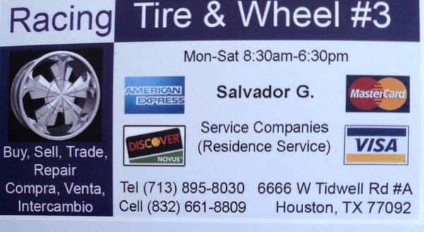18 WHEELER TIRES, GREAT RODE SERVICE FOR TRAILERS, 18 WHEELERS (6666 W. Tidwell RD. Houston TX)