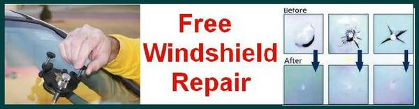 Free Auto glass Windshield rock chip and cracks repair (12917 FM-529 Houston 77041 Eldridge rd)