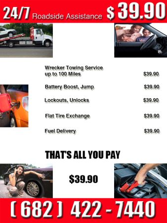 LOCK OUTS TOWING ROADSIDE WRECKER TOW TRUCK (jsut call we service fast anywhere)