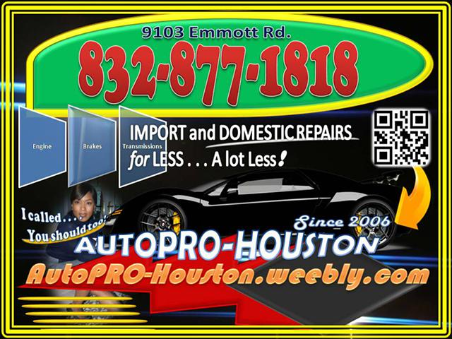 AutoPRO-Houston Does it ALL for LESS 9118
