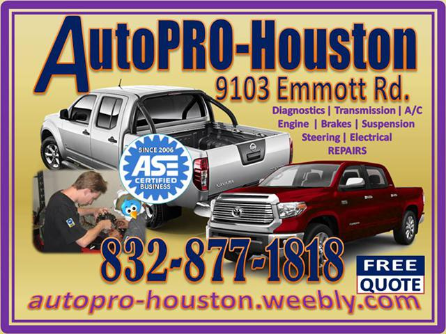 Call Every Shop for a Quote . . . Then call AutoPRO-Houston for Best Price and Service