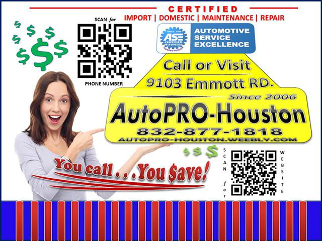Competative Prices Guaranteed Repairs AutoPRO-Houston