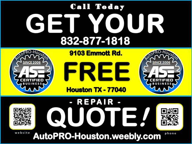 Get the right part repairs from a shop you can trust . . . AutoPRO-Houston