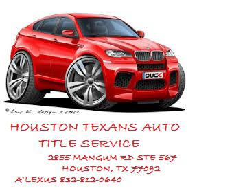 Houston Texans Auto Title Service-title transfer