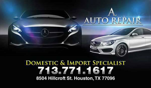 transmission, engine, oil change, alignment we can help you help at A. Auto repair 713771-1617
