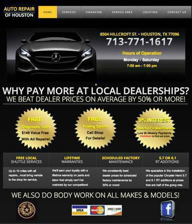 transmission, engine, oil change, alignment, tune up for low prices at A. Auto repair 713-771-1617