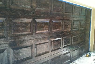 $500 single 9658 Garage Door Wood Grain Faux 9658$700 DBL 9118 (hOuSTon kINgWooD tHe wOOdlANdS)
