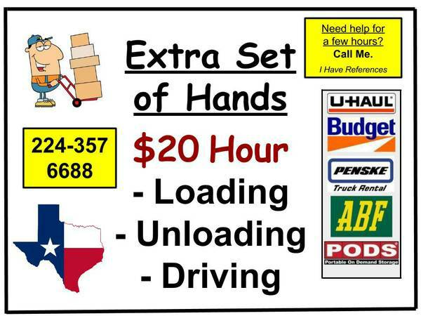 9608 $20 Hour Moving HELP. Mover, Moving. (9608 ANYWHERE Gulf 2 Conroe 2 Katy 9608)