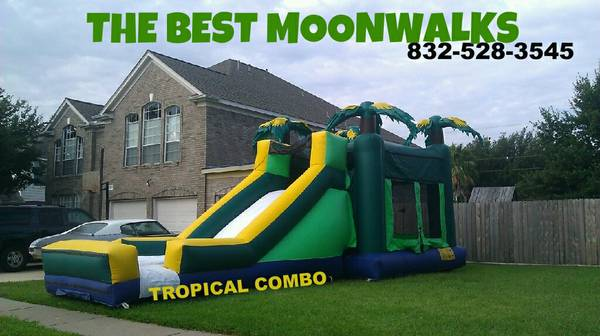 THE BEST COMBO MOONWALK $195 9729 TROPICAL COMBO 9729 (calltext before 9pm 832-528-35454)