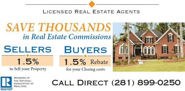 Buying New Construction Ask our Agents for our CASH REBATE (Houston)