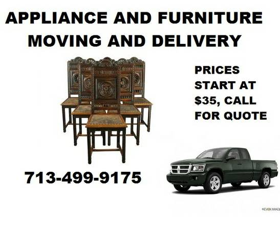 APPLIANCEFURNITURE MOVING-DELIVERY (HOUSTON)