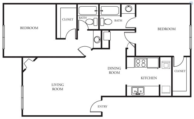 $770, 2br, Lease this 2BR2BA apartment for only $770mo