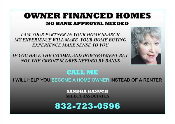 3br - _____________21 NEW OWNER FINANCED HOMES--------NO BANK NEEDED (HOUSTON)