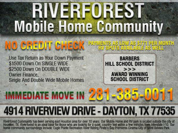 OWNER FINANCE, SINGLE AND DOUBLE WIDE MOBILE HOMES