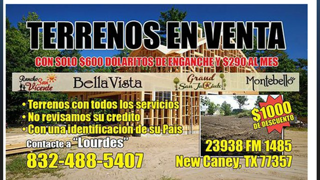 $600, Terrenos Houston, Camino Real