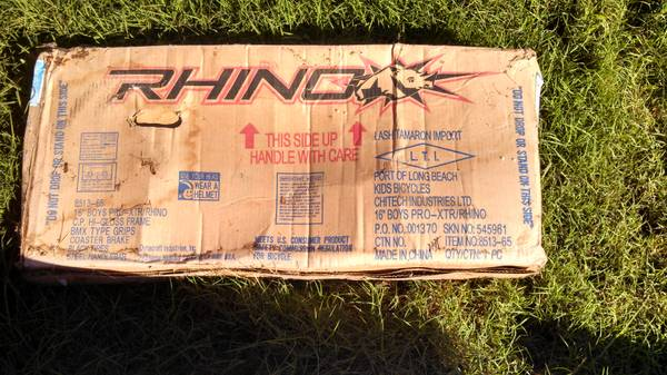 Boys 16 Rhino Bike - $45 (NWWillowbrook)