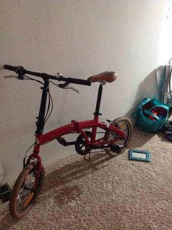 Sweet folding red Citizen Bike - $130 (Reliant stadium)