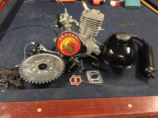 Motorized bicycle kit wit lowrider bike - $150 (houston tx)