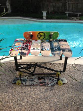 7 skateboards1 bmx frame1 longboard - $1 (HoustonCypress)