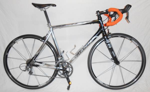 GIANT TCR 2 RIGID Road Racing 20 Speed Bike MS150 Touring Bicycle 56cm - $550 (Downtown Houston)