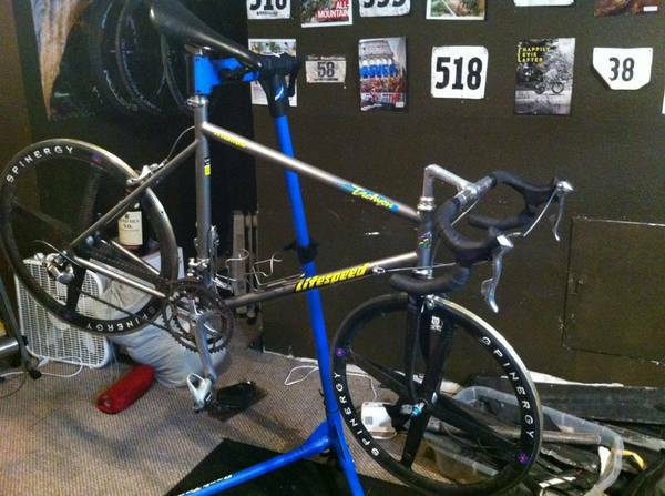 Litespeed TITANIUM road bike 56cm Spinergy carbon wheels - $1190 (Houston)