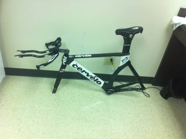 2008 Cervelo P3C Black and White Size 54 Frameother parts - $1200 (Bellaire)