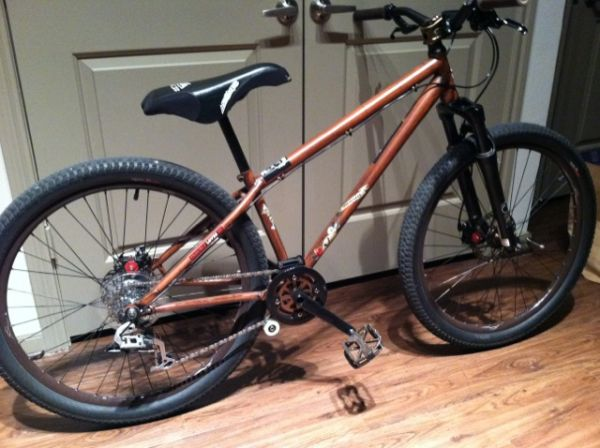 2010 Specialized P2 wood grain dirt jumper mountain street marzocchi - $500 (Downtown Houston)