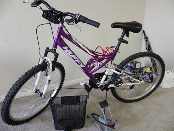 26 Huffy Trail Runner Womens Bike, including lights and air pump - $55 (Houston, West University District)