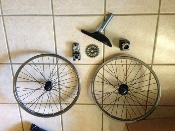 BMX parts stolen brand headset, stem, seat, sprocket, wheels - $1 (League City)