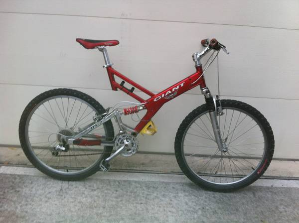 Giant Warp DS 2 Full Suspension Mountain Bike - $150 (Houston Heights)