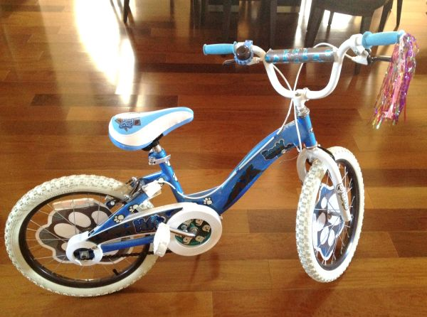 Girls 18-inch bicycle with training wheels - $30 (Sugar Land)
