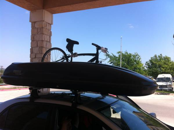 Roof top cargo boxes bike racks for rent-Thule, Saris, Yakima, X-Cargo (Stafford, TX)