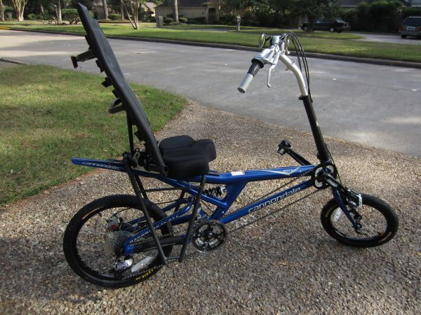 NEW CANNONDALE FULL SUSPENSION 24 SPEED RECUMBENT BIKE MUST SEE MINT - $795 (NW HOUSTON)