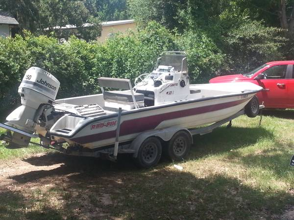 1996 red fin 23 bay boat - $5200 ( liberty)