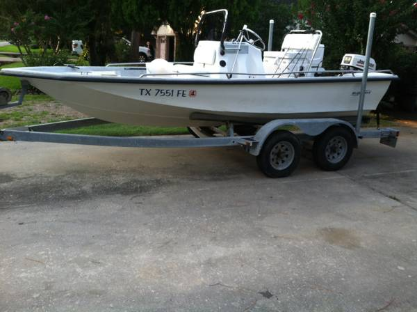 Blue Wave 17ft Boat with 50hp JOhnson-$3000 - $3000 (friendswood)