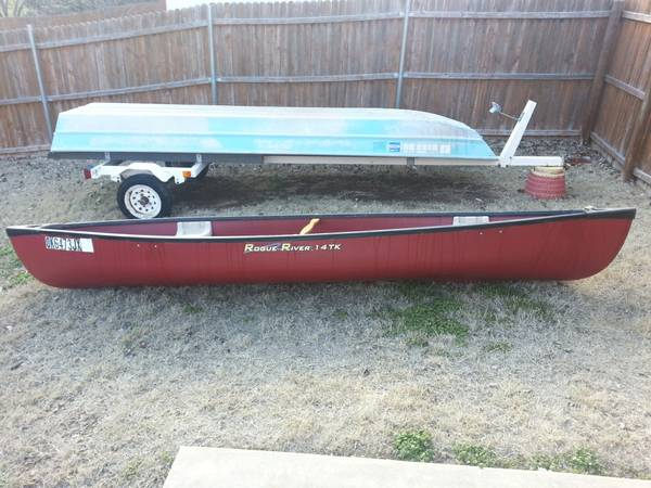 canoe rogue river 14tk for sale or trade - $350 (dickinson texas)