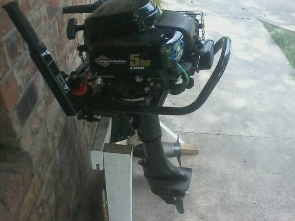BRIGGS STRATTON 5HP BOAT MOTOR - $900 (WILLIS)