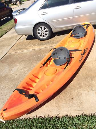 OCEAN KAYAK MALIBU TWO MAN 12 SIT-ON-TOP KAYAK BARELY USED - $575 (Tomball)