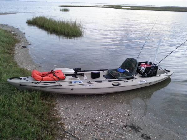 fishing kayak 2013 pompano 120 by westmarine - $550 (pearland, tx)