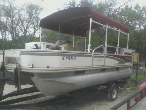 1999 fisher 18 ft pontoon boat - $5500 (north west houston)
