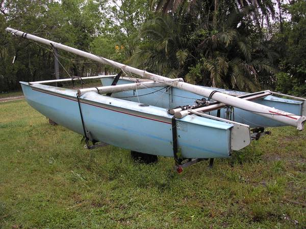 G-Cat Catamaran 16.5 foot trailer for parts or complete - $295 (midtown houston)