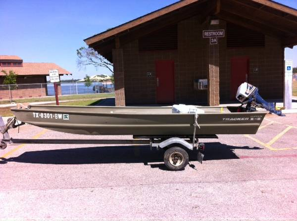 14 Foot Tracker Jon Boat, Motor and Trailer - $1750 (Northwest)
